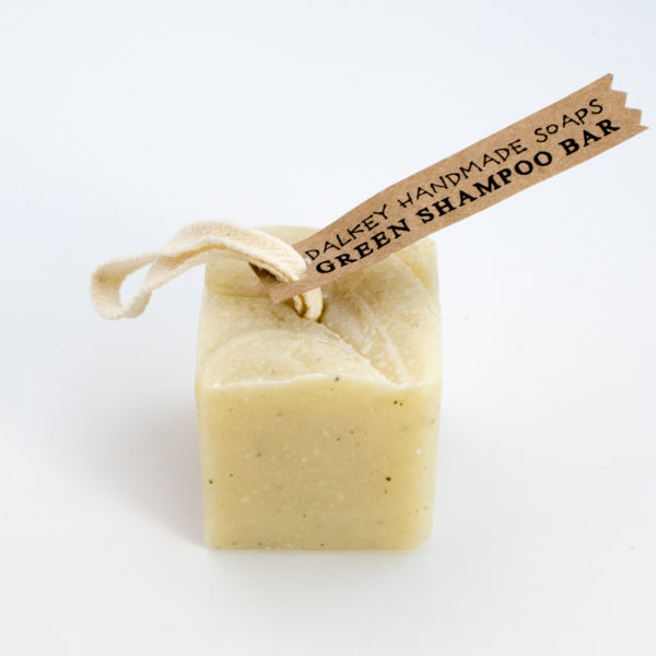 green shampoo bar
